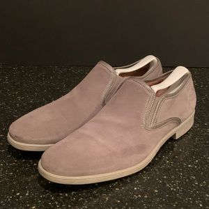 John Varvatos Nubuck Mesh Slip on Shoes. 10.5